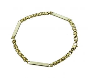 14 karaats bicolor gouden koningsschakel armband