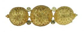 14 karaats gouden broche / doekspeld met granulering