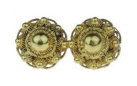 Zware 14 karaats gouden doekspeld / broche met Zeeuwse knoop