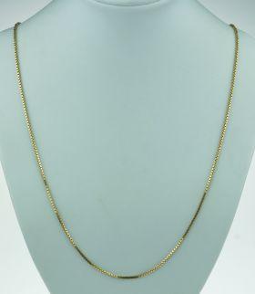 14 karaats gouden schakel ketting - 61cm -