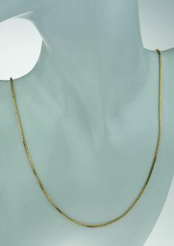 14 karaats gouden Venetiaanse schakel ketting - unisex 62cm -