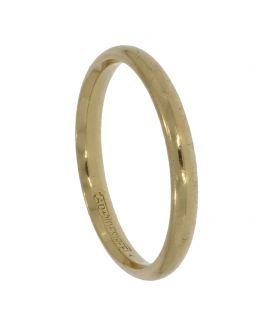 14 karaats gouden aanschuif ring glad model