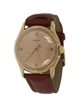 14 karaats gouden Vintage heren horloge merk Alpina
