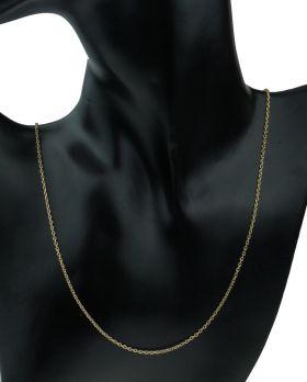 14 karaats gouden anker schakel ketting 61cm