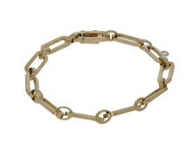 Solide 14 karaats gouden close for ever schakel armband