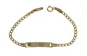 14 karaats gouden kinder plaatarmbandje - 13,5cm