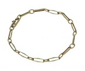 14 karaats gouden close for ever armband - 20cm -