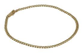 14 karaats gouden gourmet schakel armband