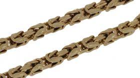 14 karaats gouden koningsschakel armband -20cm-