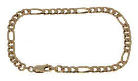14 karaats gouden unisex figaro schakel armband - 20cm -