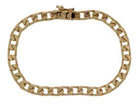 Massieve gouden unisex Vintage schakel armband