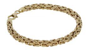 14 karaats gouden Byzantijnse koningsschakel armband -20,5cm-