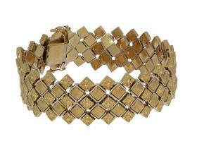 Exclusieve 18 karaats bicolor gouden Vintage armband