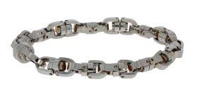 Baraka edelstaal armband met 18 karaats gouden details - nieuw -