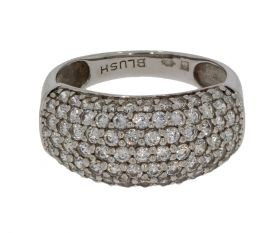 14 karaats gouden Blush ring met pave gezette zirkonia