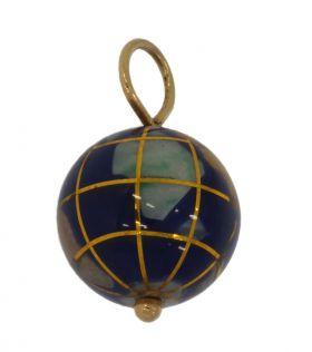 14 karaats gouden ketting hanger wereldbol