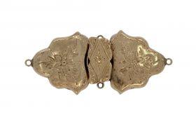 Antieke 14 karaats gouden boeksluiting broche
