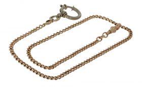 Antieke gouden chatelaine horloge ketting 45cm