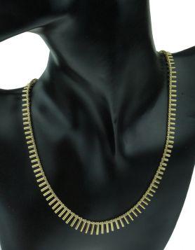 14 karaats gouden Vintage staafjes collier