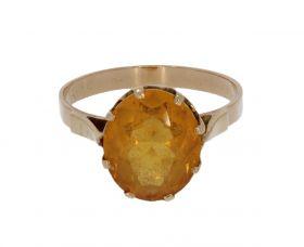 14 karaats gouden Retro ring Citrien
