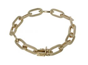 Exclusieve 14 karaats gouden close for ever schakel armband