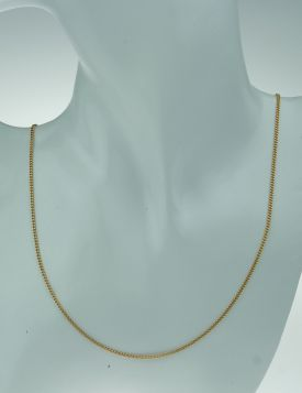 14 karaats gouden gourmet schakel dames ketting - 45cm -