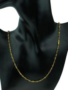 18 karaats gouden fantasie design schakel ketting