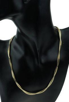 Dubbelstrengs 14 karaats gouden fantasie collier