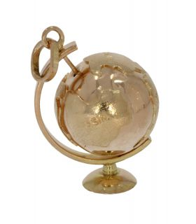 Unieke 18 karaats gouden wereldbol globe hanger
