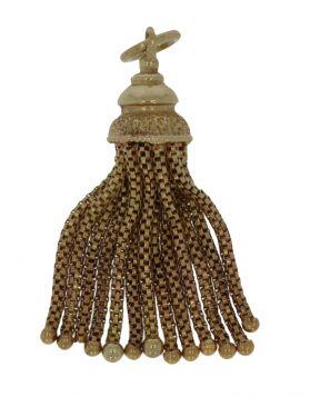 Antieke 14 karaats gouden hanger met kwastjes