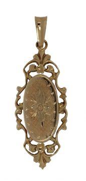 Antieke 14 karaats gouden ajourbewerkte ketting hanger