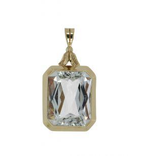 Luxe 14 karaats gouden ketting hanger met Spinel