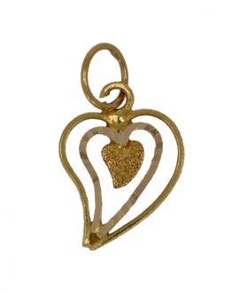 18 karaats gouden harthanger voor ketting of armband