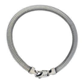 Zilveren schakelarmband - karabijnsluiting
