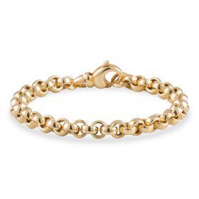 Stevige 14 karaats gouden jasseron schakelarmband