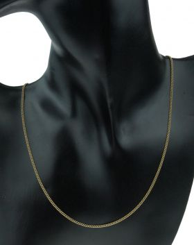14 karaats gouden gourmet schakel ketting lengte 52cm