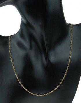 Elegante 14 karaats gouden gourmet schakel dames ketting
