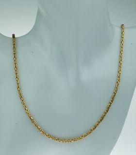 Solide 14 karaats gouden heren koningsketting -78cm-