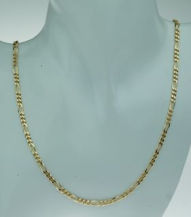 14 karaats gouden unisex figaro schakel ketting 54cm