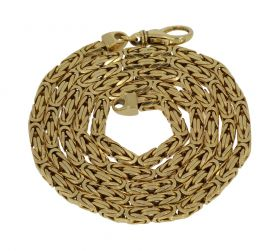 14 karaats gouden koningsschakel ketting - 61cm-