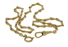 14 karaats gouden Vintage zakhorloge ketting chatelaine