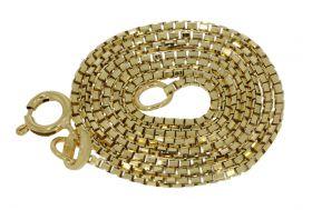 14 karaats gouden Venetiaanse schakel ketting - 38cm -