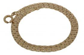 14 karaats gouden schakel ketting -41cm-