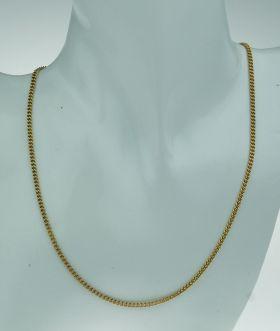 18 karaats gouden gourmet schakel ketting - 70cm -