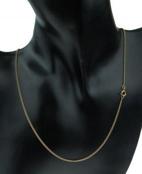 14 karaats gouden gourmet schakel ketting 44,5cm
