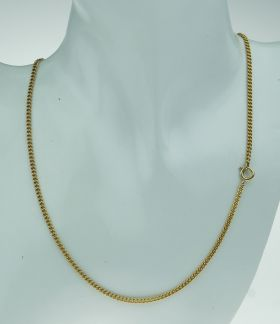 Massieve 14 karaats gouden gourmet ketting 47cm