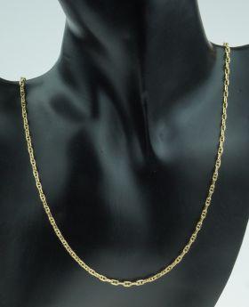 18 karaats gouden fantasie schakel unisex ketting 60cm