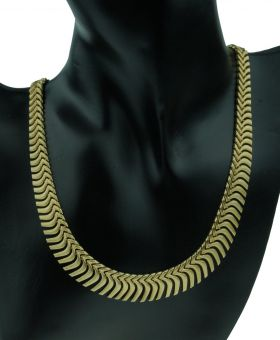 Fraaie 14 karaats gouden dames ketting - zonnecollier-