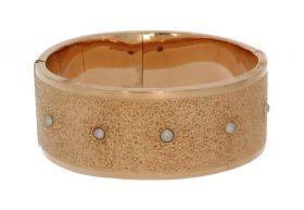 Exclusieve antiek gouden armband 19e eeuws met 5 parels