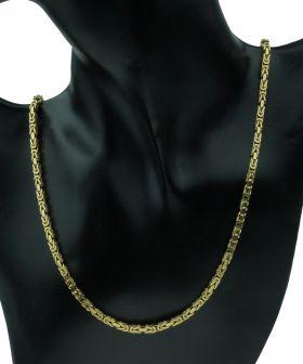 18 karaats gouden koningsschakel heren ketting 61cm
